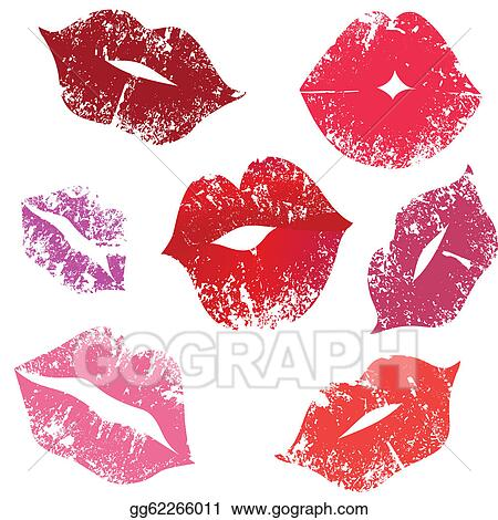 lipstick kiss clip art royalty free gograph rh gograph com Hershey Kiss Clip Art Free kiss lips clip art free