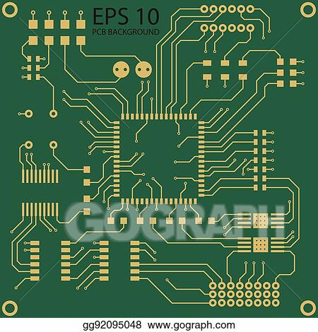 Clip Art Vector - Printed circuit board vector background. Stock EPS ...