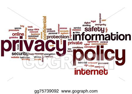 Privacy Policy Clip Art >> Stock Illustration Privacy Policy Word Cloud Clipart