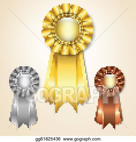 vector illustration prize ribbons stock clip art gg61825436 gograph