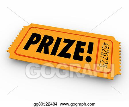 prize winning ticket award raffle drawing