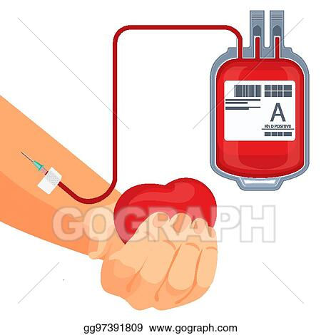 vector stock process of blood donation human hand and plastic bag rh gograph com blood donation clip art free blood donation clipart images