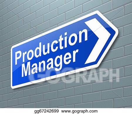 Clipart - Production manager concept. Stock Illustration ...