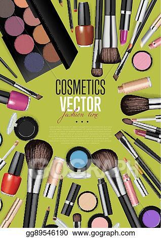 Clip Art Vector Professional Fashion Makeup Realism Vector Banner Stock Eps Gg89546190 Gograph