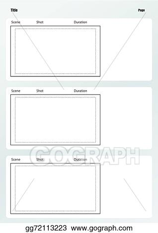 Vector Art Professional Of Film Storyboard Template Vertical