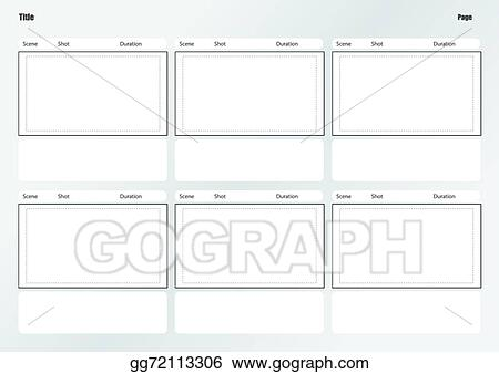 Vector Art - Professional Of Film Storyboard Template. Eps Clipart