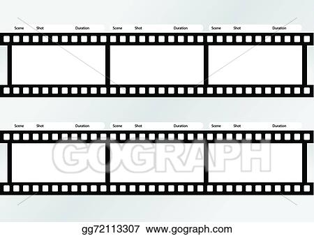 Clip Art Vector - Professional Of Storyboard Film Strip Template