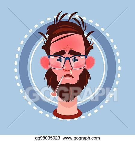 eps illustration profile icon male emotion avatar man cartoon