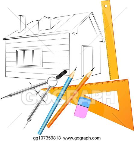 Vector Illustration Project Home Design Eps Clipart