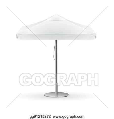 Promotional Square Advertising Outdoor White Umbrella Vector