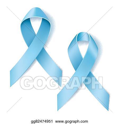 Clip Art Vector Prostate Cancer Ribbon Awareness Stock Eps