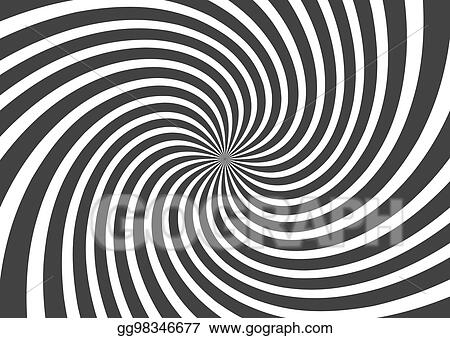 Vector Art - Psychedelic spiral with radial gray rays  swirl twisted