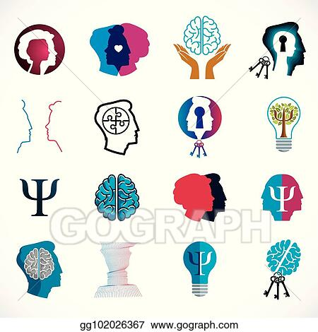Vector Clipart Psychology Brain And Mental Health Vector