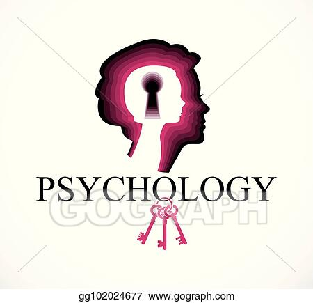 Vector Clipart Psychology Vector Logo Created With Woman Head