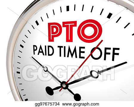 clip art pto paid time off clock vacation hours leave 3d rh gograph com pto clipart pto volunteer clipart