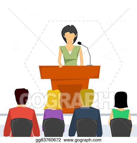 vector stock public speaker from tribune clipart illustration rh gograph com public speaking animated clipart public speaking animated clipart