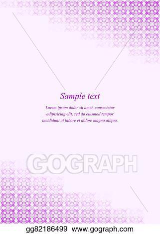 Vector Art - Purple page corner design template   EPS clipart