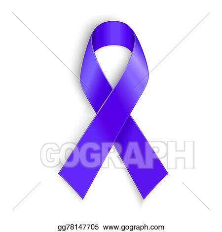 Eps Illustration Purple Ribbon As Symbol Of Cancer Awareness Drug