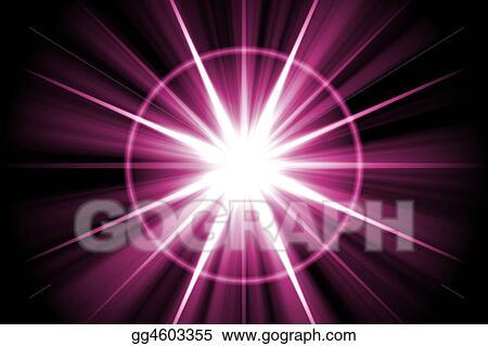Purple Star Sunburst Abstract