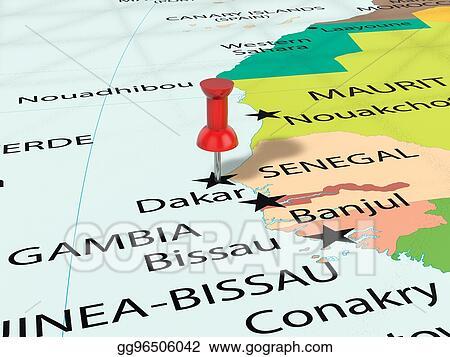 Stock Illustrations - Pushpin on dakar map. Stock Clipart ... on paris-dakar route map, rally usa map, 2014 dakar rally raid map, rallye de dakar map, dakar world maps, dakar on facebook, dakar africa, dakar map island, songhai tribes map,