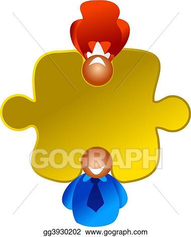 clip art puzzle solvers stock illustration gg3930202 gograph