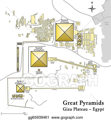 Vector Stock Pyramids Of Giza Map Clipart Illustration
