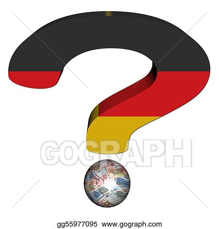 Stock Illustration Question Mark With German Flag And Euros