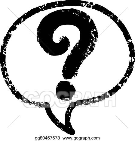 Vector Art Question Marks In Speech Bubble Icon Eps Clipart