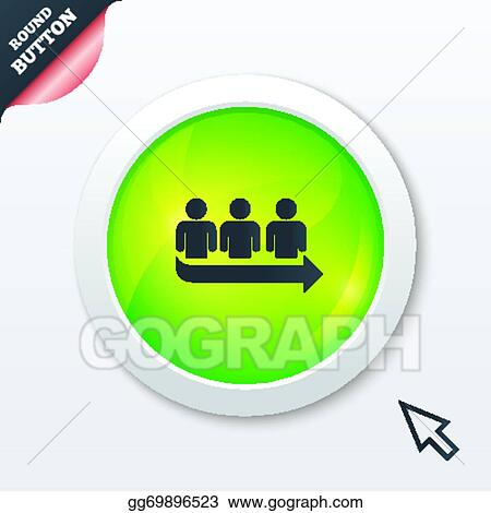 Vector illustration queue sign icon long turn symbol stock clip queue sign icon long turn symbol ccuart Images