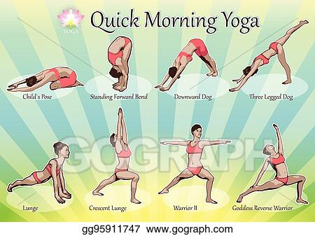Vector Illustration Quick Morning Yoga Eps Clipart Gg95911747 Gograph