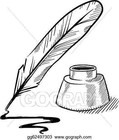quill clip art royalty free gograph rh gograph com writing quill clipart feather quill clipart