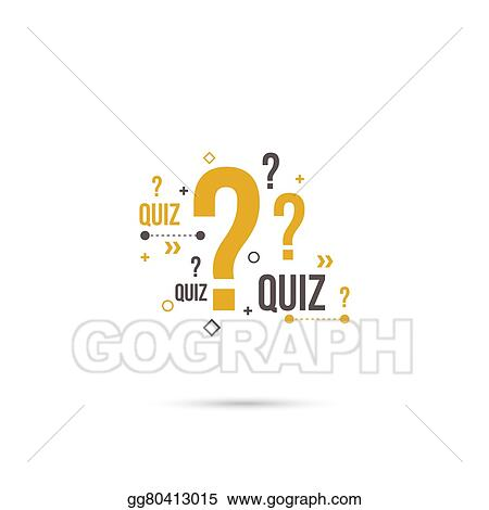 Eps Vector Quiz Background Vector Stock Clipart Illustration Gg80413015 Gograph
