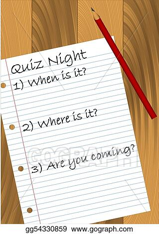 Vector Illustration - Quiz night  EPS Clipart gg54330859 - GoGraph