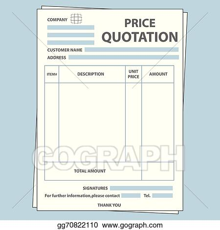 Eps Illustration  Quotation Form Vector Clipart Gg  Gograph