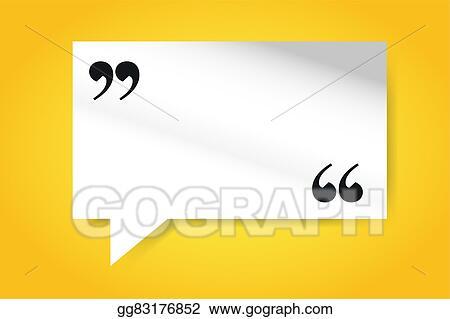clip art quote blank template bubble empty design stock