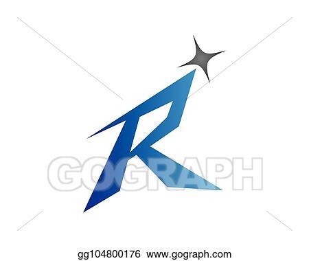 e16f6a21 Vector Art - R letter vector icon. EPS clipart gg104800176 - GoGraph