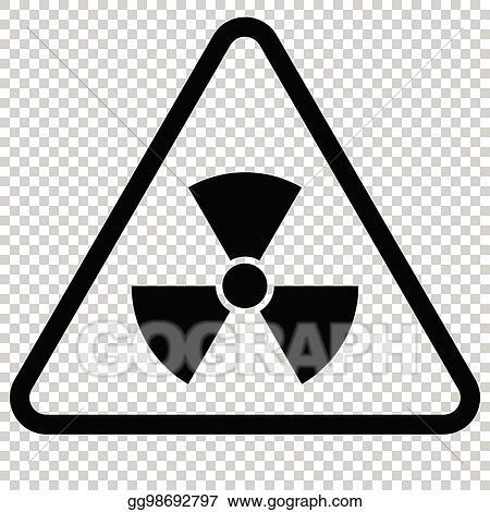 Vector Stock Radiation Hazard Sign Isolated Symbol Stock Clip
