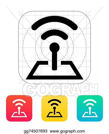 vector art radio tower base icon clipart drawing gg74507693 gograph rh gograph com clipart radio tower free clipart radio tower