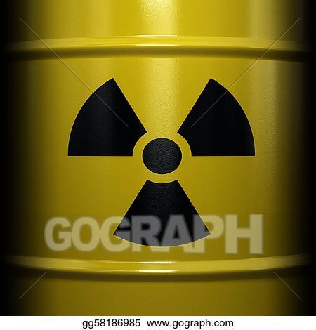 Clip Art Radioactive Symbol Stock Illustration Gg58186985 Gograph