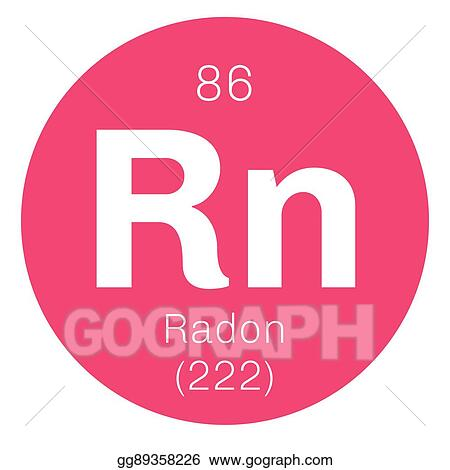 Vector Stock Radon Chemical Element Clipart Illustration