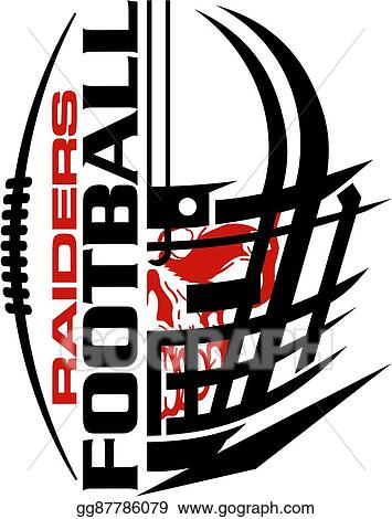 vector stock raiders football clipart illustration gg87786079 rh gograph com Oakland Raiders Logo Oakland Raiders Logo