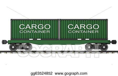 Drawings - Railway wagon  Stock Illustration gg63524852