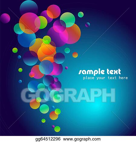 vector stock rainbow bubbles background for elegant flyers