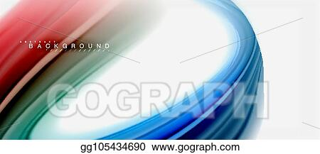 Vector Art Rainbow Fluid Colors Abstract Background