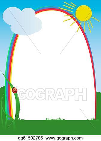 Stock Illustration - Rainbow frame . Clipart gg61502786 - GoGraph