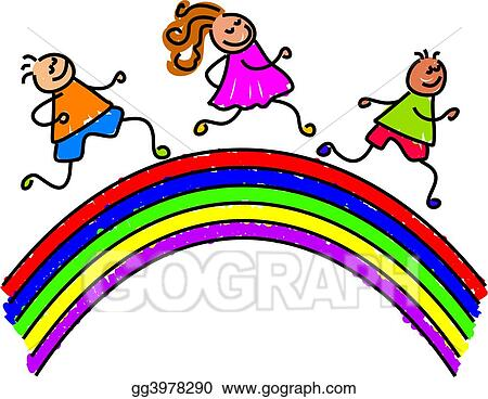 drawing rainbow kids clipart drawing gg3978290 gograph rh gograph com