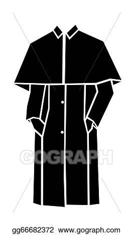 Vector Stock Raincoat Vector Clipart Illustration Gg66682372