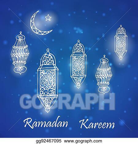Vector art ramadan greetings card clipart drawing gg92467095 ramadan greetings card m4hsunfo