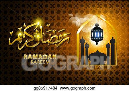 Vector stock ramadan kareem arabic calligraphy for islamic ramadan kareem arabic calligraphy for islamic greeting translation of text ramadan kareem may generosity bless you during the holy month m4hsunfo