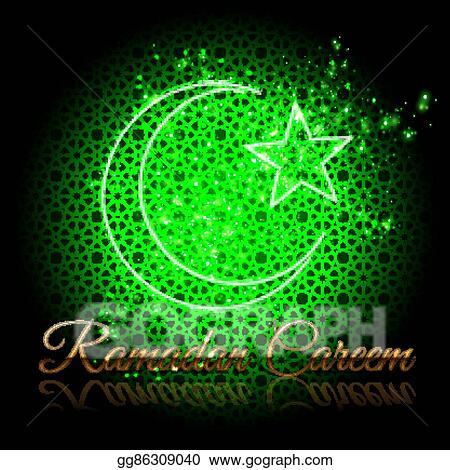 Eps Vector Ramadan Kareem Beautiful Greeting Card Stock Clipart